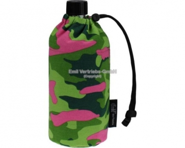 Emil Camouflage Pink Glasflasche